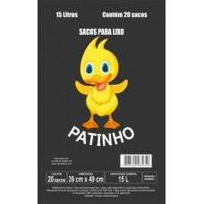SACO LIXO PATINHO 15L PRETO 25X20UN