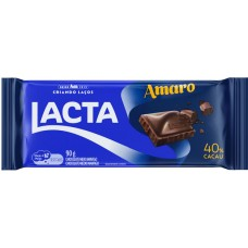 CHOCOLATE BARRA LACTA AMARO 17X90G