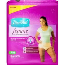 FRALDA PLENITUD ROUPA FEMME P M 1X8UN P M