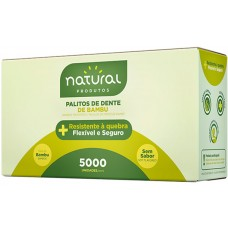 PALITO DENTAL NATURAL BAMBU  1X5000UN