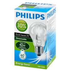 LAMPADA PHILIPS HALOGENA NATURAL 42W 10X1UN 60W