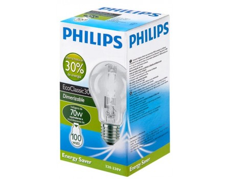 LAMPADA PHILIPS HALOGENA NATURAL 70W 10X1UN 100W