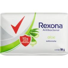 SABONETE REXONA BARRA ANTIBACTERIAL ALOE 12X84G