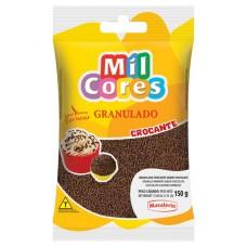 CHOCOLATE GRANULADO MIL CORES PRETO CROCANTE 1X150G