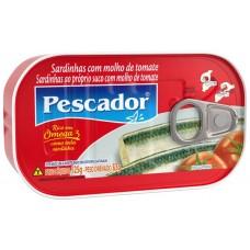 SARDINHA PESCADOR TOMATE 1X125G