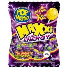 PIRULITO RICLAN BOLA CHICLE POP MANIA MAXXI ENERGY 1X24UN