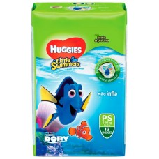 FRALDA HUGGIES LITTLE SWIMMER PRAIA PISCINA P S 1X12UN P S