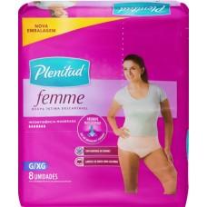 FRALDA PLENITUD ACTIVE FEMININA ROUPA G XG 1X8UN G XG