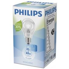 LAMPADA PHILIPS HALOGENA CLARA 42W 4X1UN 60W