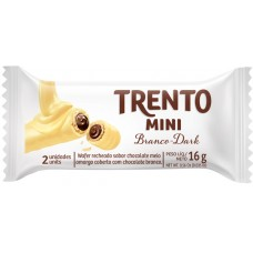 CHOCOLATE BARRA PECCIN TRENTO MINI BRANCO DARK WAFER 20X16G