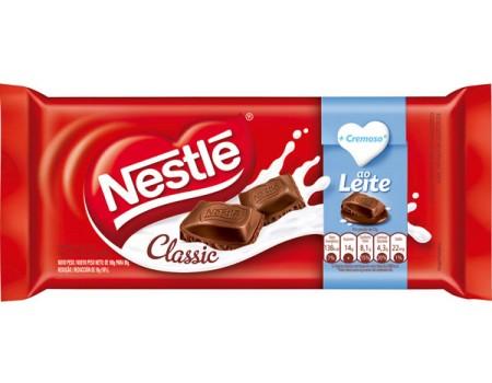 CHOCOLATE BARRA NESTLE CLASSIC AO LEITE 14X90G