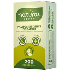 PALITO DENTAL NATURAL BAMBU 25X200UN