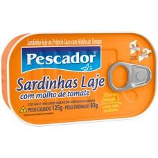 SARDINHA PESCADOR LAJE TOMATE 1X125G