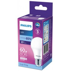 LAMPADA PHILIPS LED BULBO FRIA  9,0W 806LM 1X1UN 60W