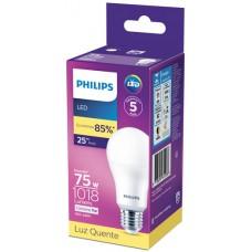 LAMPADA PHILIPS LED BULBO QUENTE 11W 1018LM 1X1UN 75W