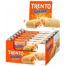 CHOCOLATE BARRA PECCIN TRENTO ALLEGRO CHOCOLATE BRANCO AMENDOIM WAFER 16X35G