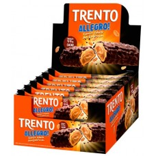 CHOCOLATE BARRA PECCIN TRENTO ALLEGRO CHOCOLATE DARK AMENDOIM WAFER 16X35G