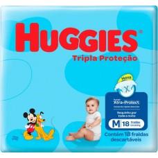 FRALDA HUGGIES JUMBINHO TRIPLA PROTECAO M 1X18UN M