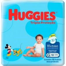 FRALDA HUGGIES JUMBINHO TRIPLA PROTECAO G 1X18UN G