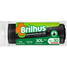SACO LIXO BRILHUS 30L PRETO 1X30UN ROL