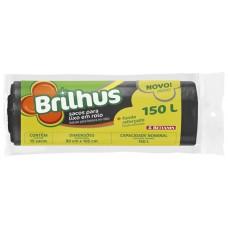 SACO LIXO BRILHUS 150L PRETO 1X15UN ROL