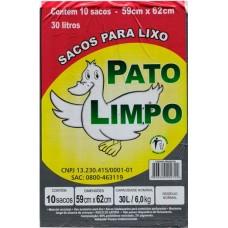 SACO LIXO PATO LIMPO 30L PRETO 25X10UN