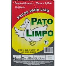 SACO LIXO PATO LIMPO 100L PRETO 25X5UN