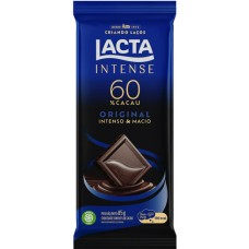 CHOCOLATE BARRA LACTA INTENSE 60% CACAU ORIGINAL 17X85G