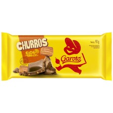 CHOCOLATE BARRA GAROTO CHURROS 14X90G
