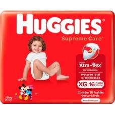 FRALDA HUGGIES JUMBO SUPREME CARE XG 1X16UN XG
