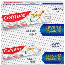 CREME DENTAL COLGATE TOTAL 12 CLEAN MINT PROMO 12X50G