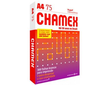 PAPEL A4 CHAMEX 75 BRANCO 210X297MM 1X300FL