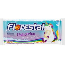 CHOCOLATE BARRA FLORESTAL BRANCO UNICORNIOS 10X90G