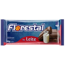CHOCOLATE BARRA FLORESTAL AO LEITE 10X90G