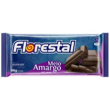 CHOCOLATE BARRA FLORESTAL MEIO AMARGO 10X90G