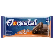 CHOCOLATE BARRA FLORESTAL AO LEITE FLOCOS 10X90G