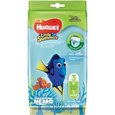 FRALDA HUGGIES LITTLE SWIMMER PRAIA PISCINA P  12X1UN P