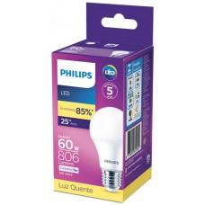 LAMPADA PHILIPS LED BULBO QUENTE 806L 9W 1X1UN BIV