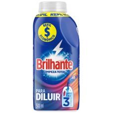 SABAO LIQUIDO BRILHANTE DILUIR REFIL LIMPEZA TOTAL 1X500ML PT