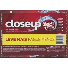 CREME DENTAL CLOSEUP PROTECAO 360 FRESH RED HOT PROMO 1X6UNX90G