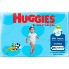 FRALDA HUGGIES MEGUINHA TRIPLA PROTECAO XG 1X32UN XG