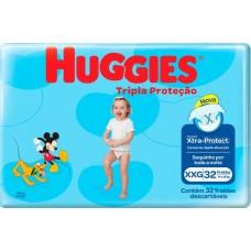 FRALDA HUGGIES MEGUINHA TRIPLA PROTECAO XXG 1X32UN XXG