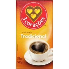 CAFE 3 CORACOES VACUO TRADICIONAL 1X500G