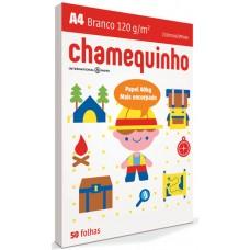 PAPEL A4 CHAMEQUINHO 120 BRANCO 1X50FL