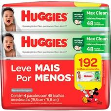 LENCO UMEDECIDO HUGGIES MAX CLEAN PROMO 4X48UN