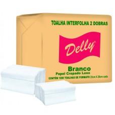 TOALHA INTERFOLHA DELLY 23X20 BRANCA 1x1000UN