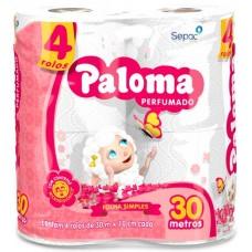 PAPEL HIGIENICO FOLHA SIMPLES PALOMA PERFUMADO 16X4UNX30M